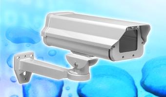 CCTV camera housing bracket